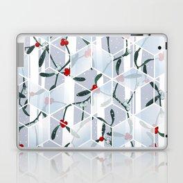 Geometric Mistletoe Holiday Design Laptop & iPad Skin