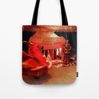 dancer Tote Bags featuring Dancer  by Ethna Gillespie