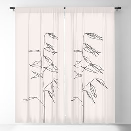 Japanese style plant illustration - Olivia I Blackout Curtain
