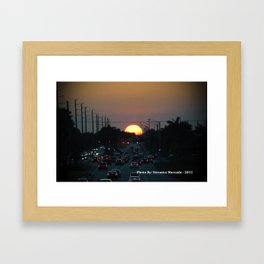 Hmm Beautiful Sunsetting  Framed Art Print