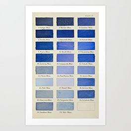 Plate IX (Blue) Art Print
