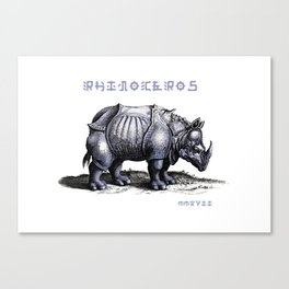 Rinoceros Canvas Print
