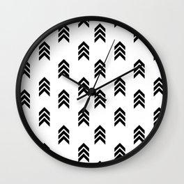 Mini Chevron Arrows Wall Clock
