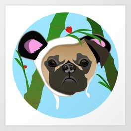 Pandamonium Pug Art Print