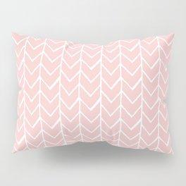 Herringbone Pink Pillow Sham