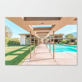 Sinatra's Twin Palms Estate, Palm Springs Canvas Print