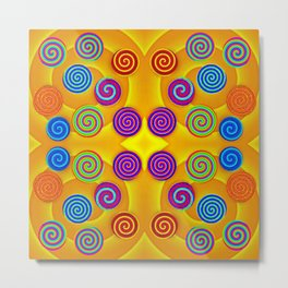 Colorful soft twirls by wool Metal Print