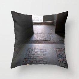 San Crisogono Basilica Side Door, Rome, Italy Throw Pillow