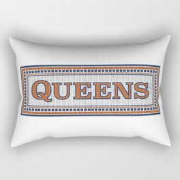 NY Subway Mosaic Queens Borough Rectangular Pillow