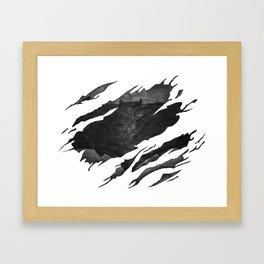 Bat-man BvS Ripped Symbol Framed Art Print
