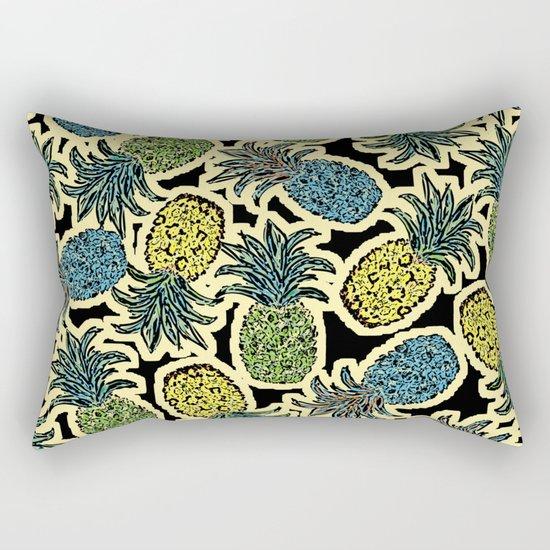 Pineapple Pandemonium - Retro Tones Rectangular Pillow