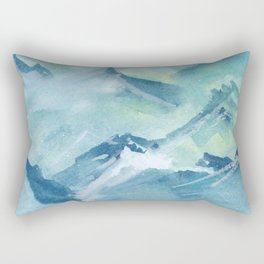 Blue mountian range Rectangular Pillow