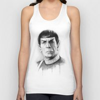 spock Tank Tops featuring Spock by Olechka