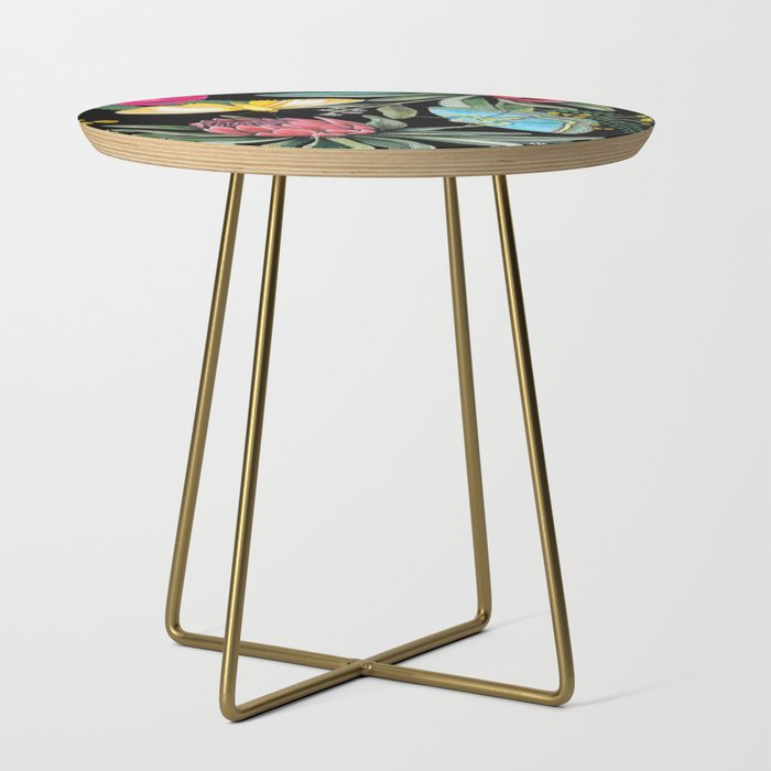 Protea flower botanical watercolor Side Table