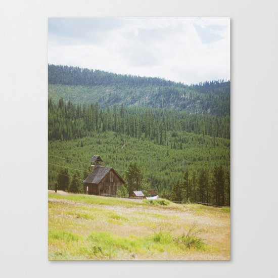 Forest Mountain Church Canvas Print