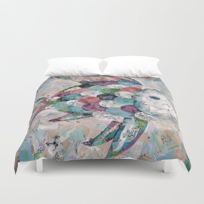 Rainbow Fish Collage Duvet Cover