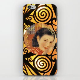 Woman in China - Beijing 7033 - Gold and black decor iPhone Skin