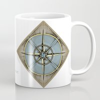 compass Mugs featuring Compass by dhansonart