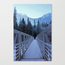 Trail of Ice Canvas Print