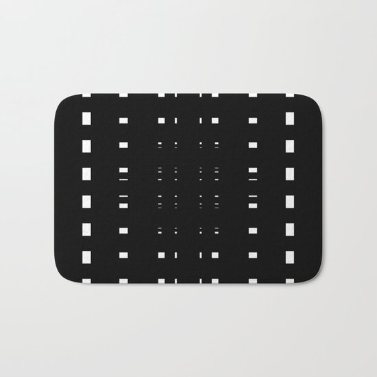 Perceive Depth In Black And White Bath Mat
