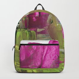 Cacti and Palm Trees Abstract Fine Art Backpack