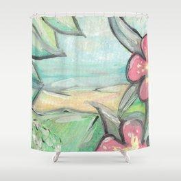 Tropical Landscape Shower Curtain