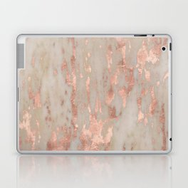 Rose gold Genoa marble Laptop & iPad Skin
