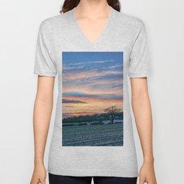Sunset & Snow Unisex V-Neck