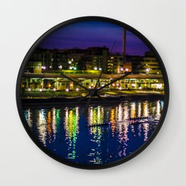 Georgetown Mornings - Off of Key Bridge Wall Clock