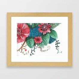 Ruby Botanical 3 Floral Watercolor Framed Art Print