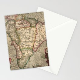 Vintage Map of South America (1606) Stationery Cards