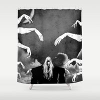 witchcraft Shower Curtains featuring Witchcraft by Merwizaur
