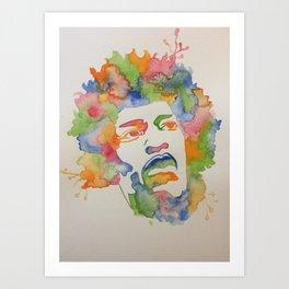 Hendrix Splash Art Print