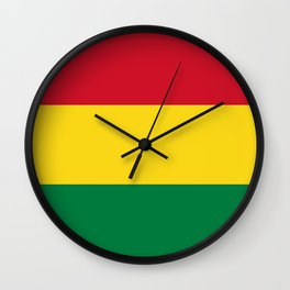 Flag of bolivia-bolivian,spanish,america,south america,latin america,coffee,Santa cruz,Sucre,La paz  Wall Clock