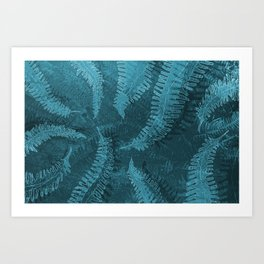 Ferns (light) abstract design Art Print
