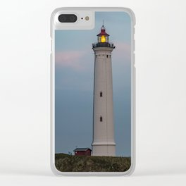 Lighthouse Sunset Landscape Clear iPhone Case