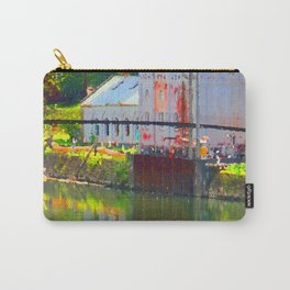 Pointillism: Snoqualmie Falls Carry-All Pouch