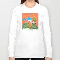 cartoons Long Sleeve T-shirts featuring Cartoons and Cereal by Kerosene Bill