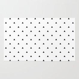 Elegant black white geometric pattern | triangles Rug