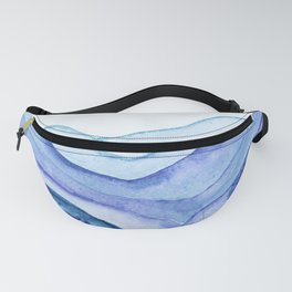 Washed Away Watercolor Fanny Pack