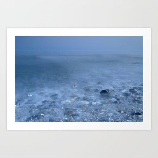 """Blue sea""... Art Print"