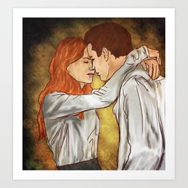 Neville and Ginny Art Print