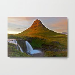 The Mountain & The Falls Metal Print