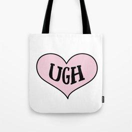 Ugh Heart Tote Bag