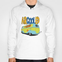 vw bus Hoodies featuring VW Camper Drag Bus by VelocityGallery
