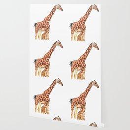 Giraffe Art - A Mother's Love - By Sharon Cummings Wallpaper
