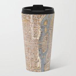 Vintage Paris Map Travel Mug
