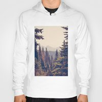 tapestry Hoodies featuring Mountains through the Trees by Kurt Rahn