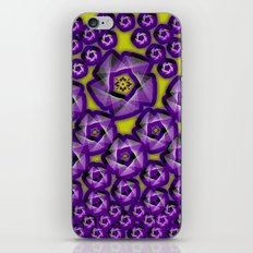 Floral fraktal, purple iPhone & iPod Skin
