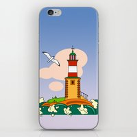 lighthouse iPhone & iPod Skins featuring Lighthouse by LaDa